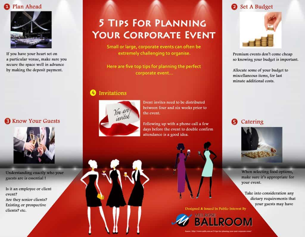 5 Tips for Planning Your Corporate Event