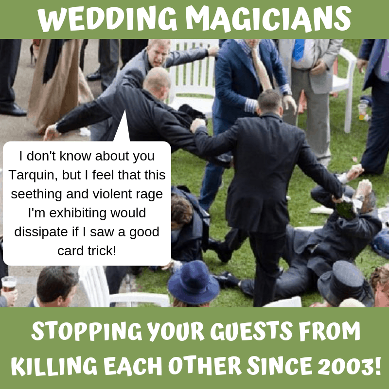 How to Stop Guests Fighting on Your Wedding Day